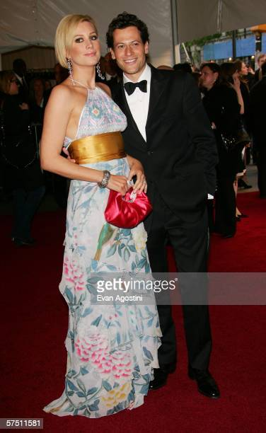 Actors Ioan Gruffudd and Alice Evans attend the Metropolitan Museum of Art Costume Institute Benefit Gala Anglomania at the Metropolitan Museum of...