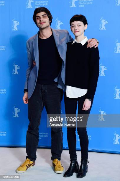 Actors Irakli Quiricadze and Tinatin Dalakishvili attends the 'Hostages' photo call during the 67th Berlinale International Film Festival Berlin at...