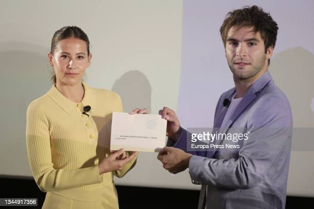 Actors Irene Escolar and Ricardo Gomez unveil the film that will represent our country at the next edition of the Oscars, 'The Good Patron', at a...