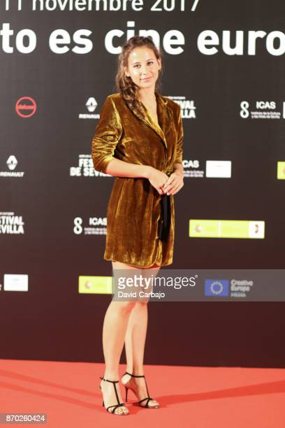 Actors Irene Escolar attend the LA PIEL DE LOBO photocall at the European film Festival of Seville on November 4 2017 in Seville Spain