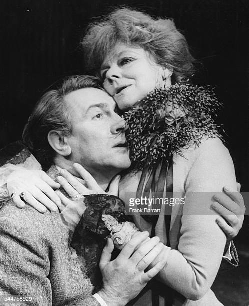 Actors Irene Worth and Robert Stephens during rehearsals for the play 'The Seagull', at the Greenwich Theatre, London, January 29th 1974.