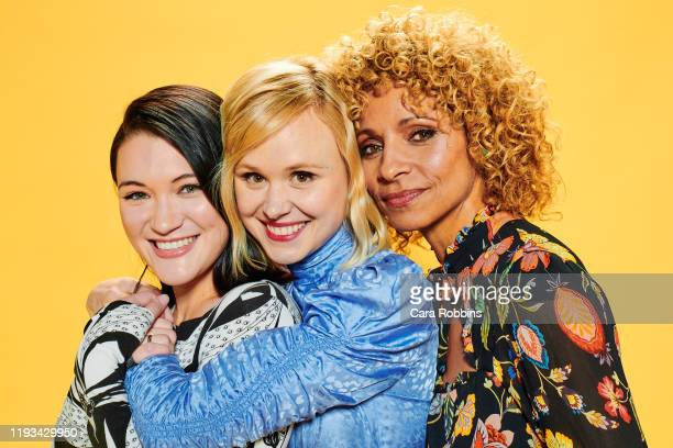 Actors Isa Briones Alison Pill and Michelle Hurd of CBS's Picard pose for a portrait during the 2020 Winter TCA at The Langham Huntington Pasadena on...