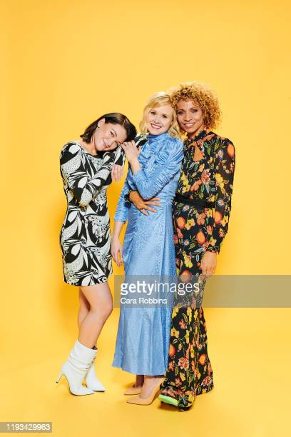 """Actors Isa Briones, Alison Pill and Michelle Hurd of CBS's """"Picard"""" pose for a portrait during the 2020 Winter TCA at The Langham Huntington,..."""