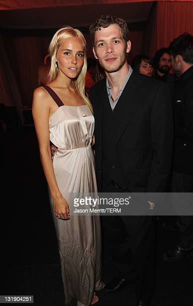 Actors Isabel Lucas and Joseph Morgan attend Relativity Media's Immortals premiere after party presented in RealD 3 at Nokia Theatre LA Live on...