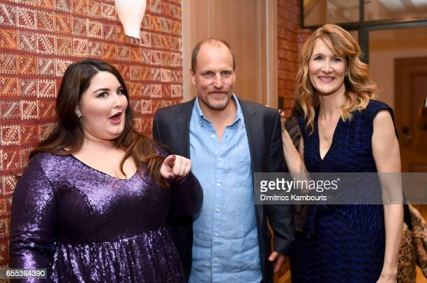 Actors Isabela Amara Woody Harrelson and Laura Dern attend the After Party for the Wilson New York Screening at the Whitby Hotel on March 19 2017 in...