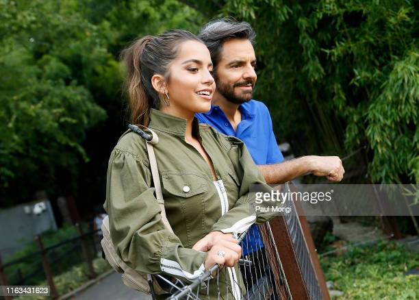"Actors Isabela Moner and Eugenio Derbez attend the ""Dora and the Lost City of Gold"" Washington, D.C. Screening & Zoo Visit at Smithsonian National..."