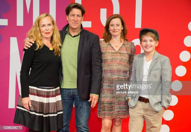 Actors Isabell Mann , Tobias Moretti, Inka Friedrich and Luke Vogelbein pose on the red carpet prior to the screening of the movie 'Im Namen meines...