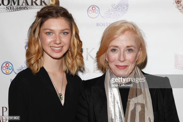 Actors Isabella BlakeThomas and Holland Taylor attend the Kepler's Dream premiere at Regency Plant 16 on November 30 2017 in Van Nuys California