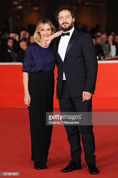 Actors Isabella Ferrari and Claudio Santamaria attend 'Il Venditore Di Medicine' Premiere during The 8th Rome Film Festival on November 11 2013 in...