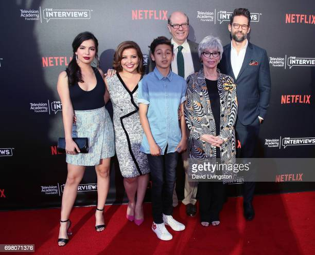 Actors Isabella Gomez Justina Machado Marcel Ruiz Stephen Tobolowsky Rita Moreno and Todd Grinnell attend The Power of TV A Conversation with Norman...