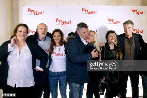 Actors Isabelle De Hertogh Rufus Emmanuelle Boidron JeanMarie Bigard Florence Thomassin Angelique Litzenburger and Philippe Caroit attend the 'Vive...