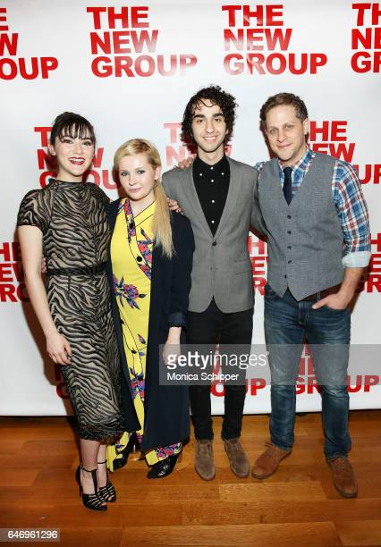 Actors Isabelle Fuhrman Abigail Breslin Alex Wolff and Joe Tippett attend 'All The Fine Boys' Opening Night on March 1 2017 in New York City