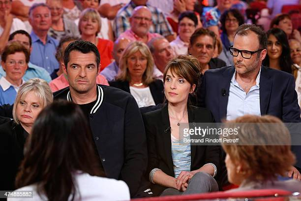 Actors Isabelle Nanty and Arnaud Ducret with Actors Alix Poisson and PierreFrancois MartinLaval who present the TV Series 'Disparue' attend the...