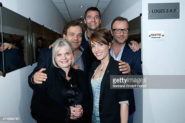 Actors Isabelle Nanty Didier Bourdon Arnaud Ducret Alix Poisson and PierreFrancois Martin Laval attend the 'Vivement Dimanche' French TV Show at...