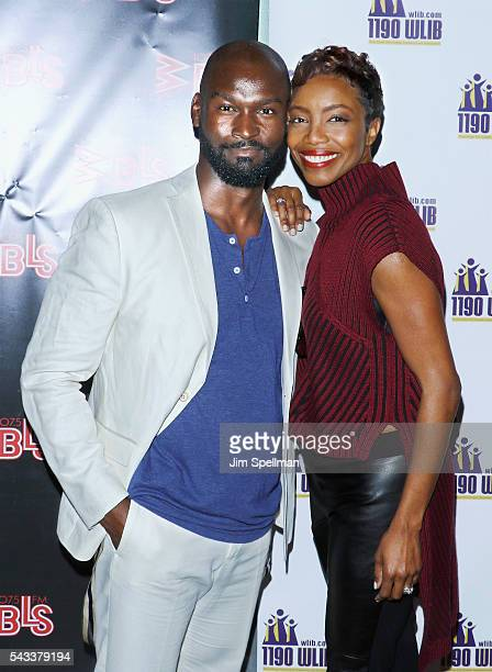 Actors Isaiah Johnson and Heather Headley attend the WBLS 1075 1190 WLIB celebrate black music month with Broadway's 'The Color Purple' on June 27...