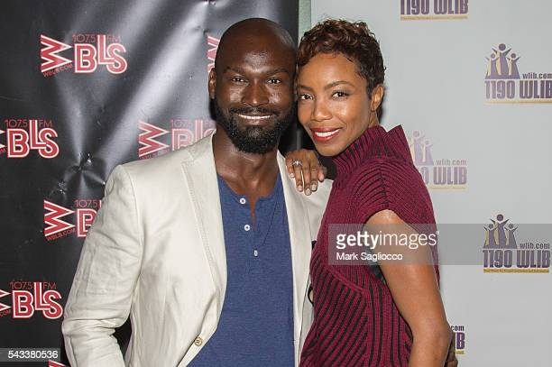 Actors Isaiah Johnson and Heather Headley attend the WBLS 1075 1190 WLIB Celebration of Black Music Month with Broadway's 'The Color Purple' on June...