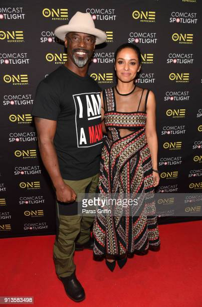 Actors Isaiah Washington and Meta Golding attend Behind The Movement Atlanta screening at National Center for Civil and Human Rights on February 2...
