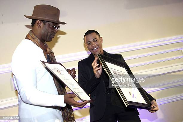 Actors Isaiah Washington and Tequan Richmond attend the 5th Annual African American Film Critics Association Awards at Taglyan Cultural Complex on...