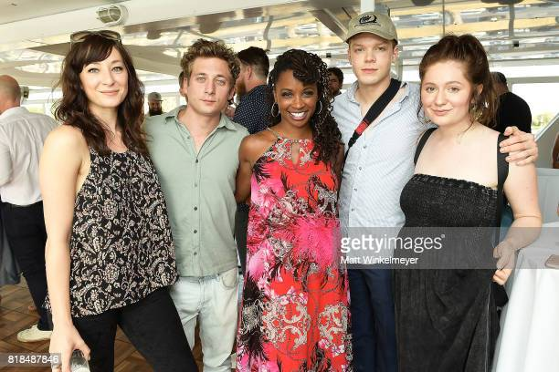 Actors Isidora Goreshter Jeremy Allen White Shanola Hampton Cameron Monaghan and Emma Rose Kenney attend Steve Howey's Surprise 40th Birthday Party...