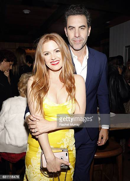 Actors Isla Fisher and Sacha Baron Cohen attend a special screening and reception of 'LION' hosted by David O'Russell and Lee Daniels celebrating...