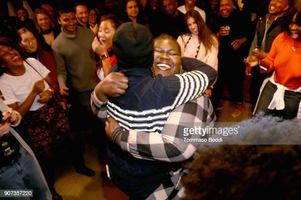 Actors Issa Rae and Gabourey Sidibe attend THE CHI Party presented by SHOWTIME and Amazon Channels at the IMDb Studio on January 19 2018 in Park City...