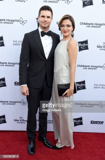 Actors Italia Ricci and husband Robbie Amell arrive at the 2018 From Paris With Love Children's Hospital Los Angeles Gala at LA Live Event Deck on...