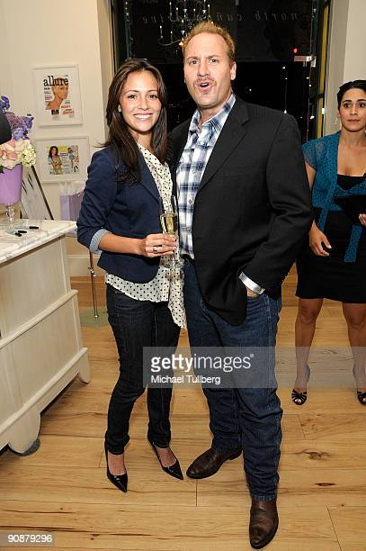 Actors Italia Ricci and TJ Austin appear at Hollywood makeup artist Valerie Sarnell's 2009 Emmy Awards Event held at the Valerie Beverly Hills store...