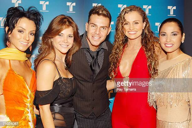 Actors Ivonne Montero, Julyie Giliberti, Juan Alfonso Baptista, Aura Cristina Geithner, and Lilibeth Morillo attend Telemundo's Upfront 2006 at Jazz...