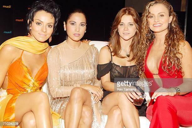 Actors Ivonne Montero, Lilibeth Morillo, Julyie Giliberti, and Aura Cristina Geithner attend Telemundo's Upfront 2006 at Jazz At Lincoln Center on...