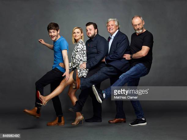 Actors Iwan Rheon Faye Marsay John Bradley Conleth Hill and Liam Cunningham from 'Game of Thrones' are photographed for Entertainment Weekly Magazine...