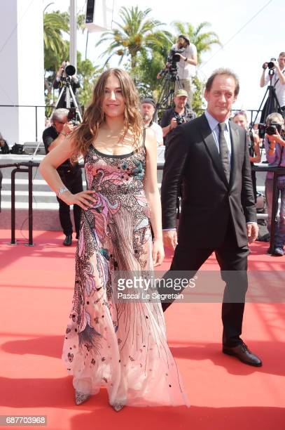 Actors Izia Higelin and Vincent Lindon attends the 'Rodin' screening during the 70th annual Cannes Film Festival at Palais des Festivals on May 24...