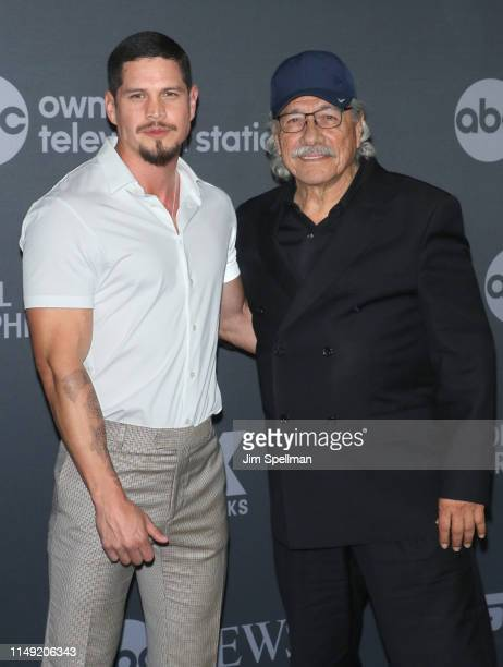 Actors J D Pardo and Edward James Olmos attend the 2019 Walt Disney Television Upfront at Tavern On The Green on May 14 2019 in New York City