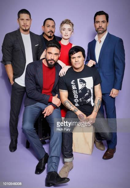 Actors J D Pardo Emilio Rivera Sarah Bolger Danny Pino Clayton Cardenas and cocreator/executive producer/writer/director Elgin James of FX's 'Mayans...