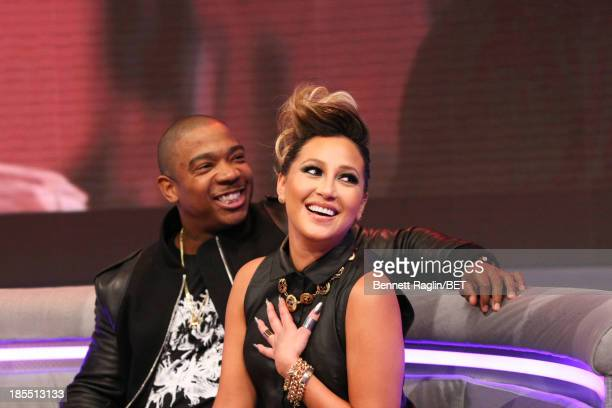 Actors Ja Rule and Adrienne Bailon visit 106 Park at 106 Park studio on October 21 2013 in New York City