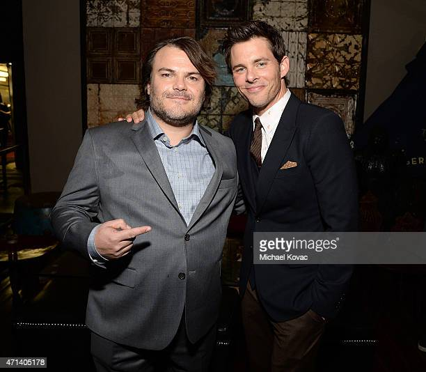 Actors Jack Black and James Marsden attend the after party following The Los Angeles Premiere Of IFC Films' 'THE D TRAIN' presented by Banana Boat at...