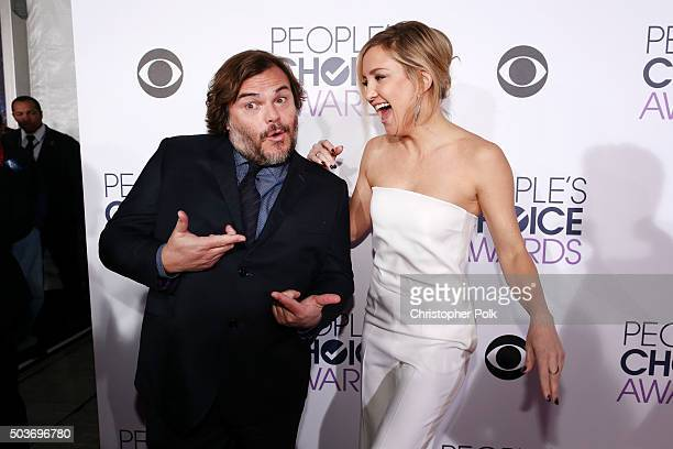 Actors Jack Black and Kate Hudson attend the People's Choice Awards 2016 at Microsoft Theater on January 6 2016 in Los Angeles California