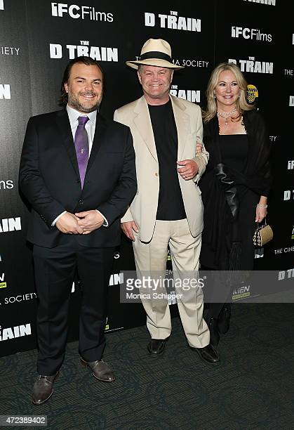 Actors Jack Black and Micky Dolenz and Donna Quinter attend The Cinema Society Banana Boat Host The New York Premiere Of IFC Films' The D Train at...