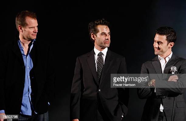 Actors Jack Coleman Adrian Pasdar and Milo Ventimiglia attend the Jules Verne Adventure Film Festival Closing Day Lifetime Achievement Award to Stan...