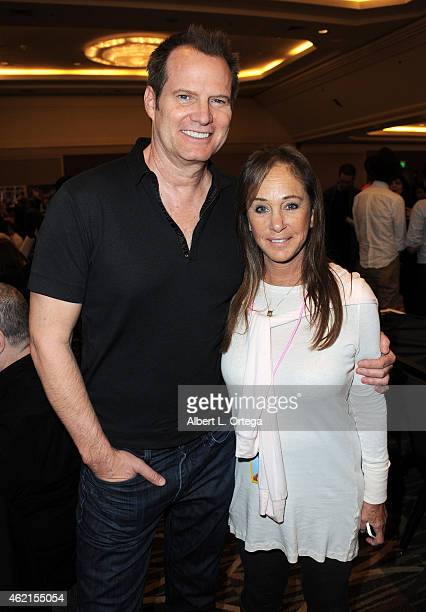 Actors Jack Coleman and Pamela Bellwood at The Hollywood Show held at The Westin Hotel LAX on January 24 2015 in Los Angeles California