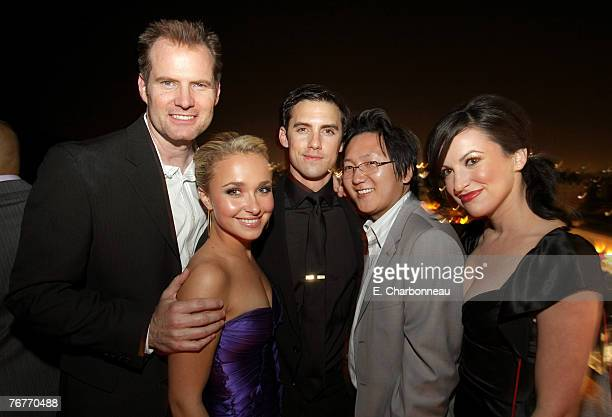 Actors Jack Coleman Hayden Panettiere Milo Ventimiglia Masi Oka and guest attend the Heroes 2007 PreEmmy Party Hosted by Perry Ellis and Vanity Fair...