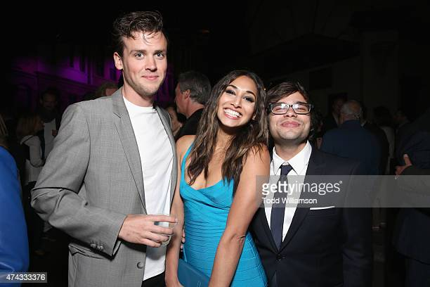 Actors Jack CutmoreScott Meaghan Rath and Charles Saxton attend the FOX Los Angeles Screenings Party 2015 on the Fox Studio Lot on May 21 2015 in Los...