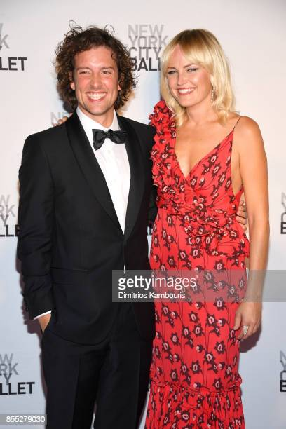 Actors Jack Donnelly and Malin Akerman attend the New York City Ballet's 2017 Fall Fashion Gala at David H Koch Theater at Lincoln Center on...