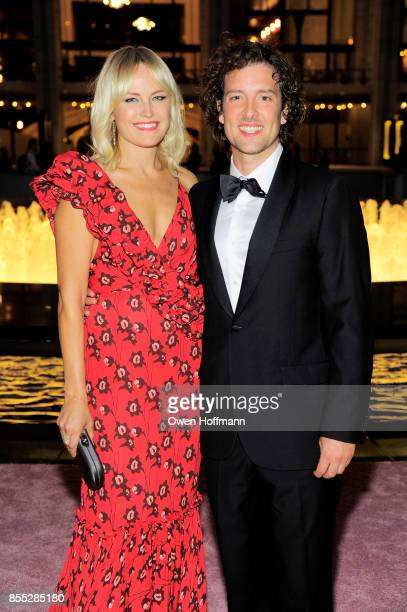 Actors Jack Donnelly and Malin Akermanattend the New York City Ballet's 2017 Fall Fashion Gala at David H Koch Theater at Lincoln Center on September...