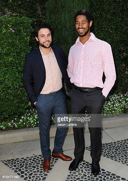 Actors Jack Falahee and Alfred Enoch attend the Rape Foundation's annual brunch on September 25 2016 in Beverly Hills California