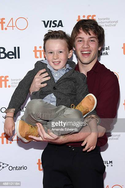 Actors Jack Fulton and Connor Jessup attends the Closet Monster photo call during the 2015 Toronto International Film Festival at Ryerson Theatre on...