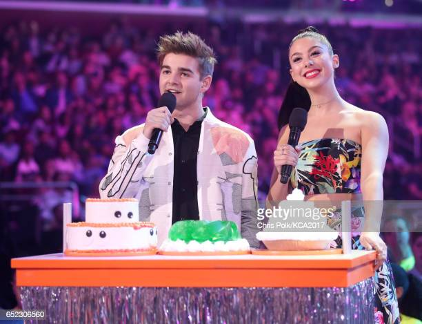 Actors Jack Griffo and Kira Kosarin at Nickelodeon's 2017 Kids' Choice Awards at USC Galen Center on March 11 2017 in Los Angeles California