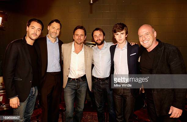 Actors Jack Huston David Morrissey Chip Esten Vincent Kartheiser Freddie Highmore and Dean Norris attend the Variety Emmy Studio at Palihouse on May...
