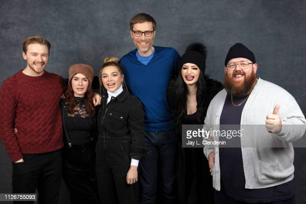 Actors Jack Lowden Lena Headey Florence Pugh director/writer/actor Stephen Merchant Paige and actor Nick Frost from 'Fighting with My Family' are...