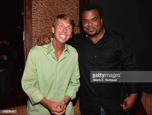 Actors Jack McBrayer and Craig Robinson attend the after party for Columbia Pictures' 'This Is The End' premiere at W Hotel Westwood on June 3 2013...