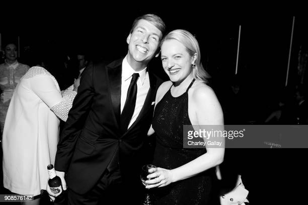 Actors Jack McBrayer and Elisabeth Moss attend People and EIF's Annual Screen Actors Guild Awards Gala sponsored by TNT and L'Oreal Paris at The...